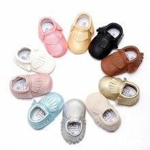 Новый Бренд Детские Мокасины Кожа Девушки Детская Обувь Мода Кисточкой Moccs Детская Обувь Младенцы Малышей Обувь Впервые Уокер N2217