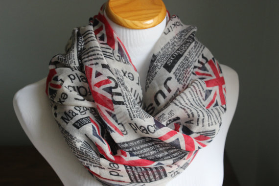 Union Jack Scarf Warm Womens Infinity Scarve London Underground British Print Accessories Gift For Her 10pcs/lot Free Shipping
