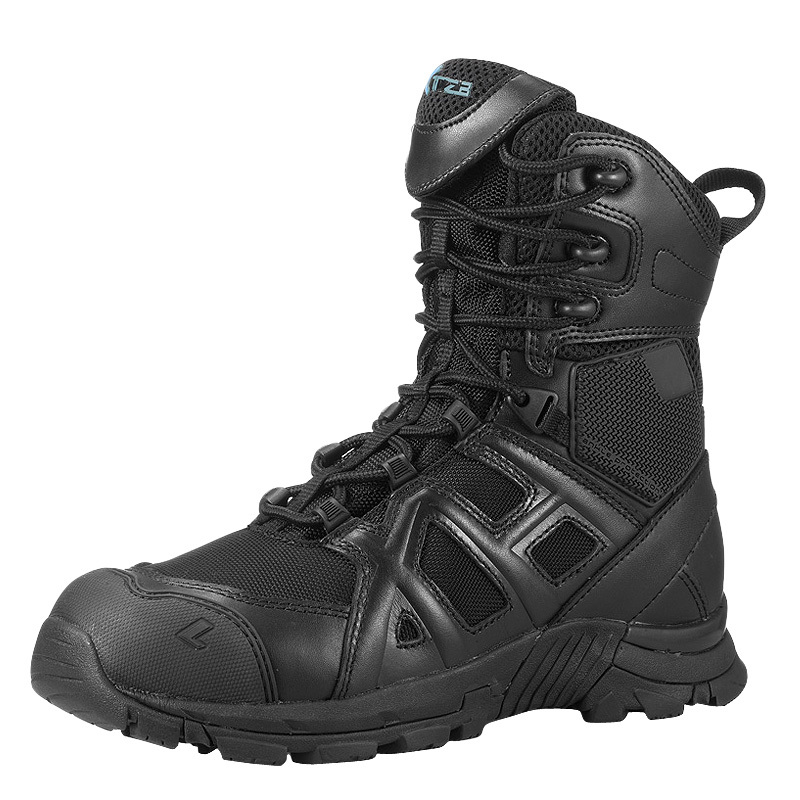 Outdoor Sports Leather Breathable Lacing Army Tactical High Boots Male Camping Hiking Training Climbing Waterproof Desert