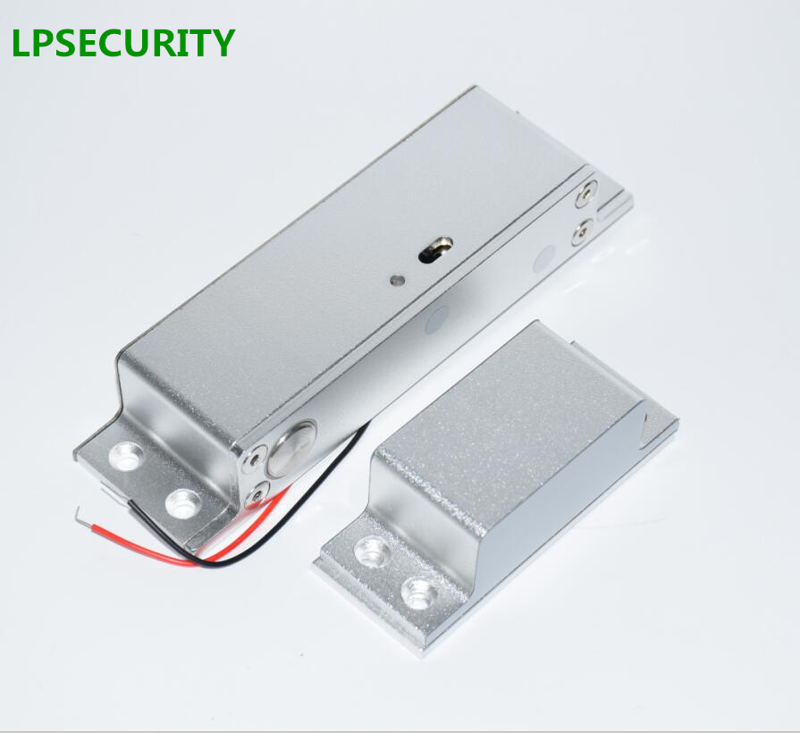LPSECURITY exposed installation Fail Safe Door & Gate Access Control Electric Magnetic Deadbolt Drop bolt Door Lock with timer