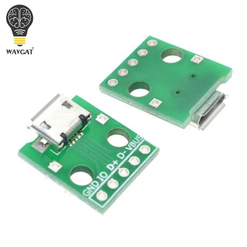 5 шт. MICRO USB к DIP адаптер 5pin гнездовой разъем B Тип печатной платы конвертер pinboard 2,54