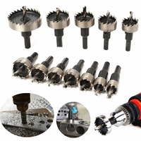 12pcs 15 50mm HSS Hole Saw Cutter HSS Drill Bits Set