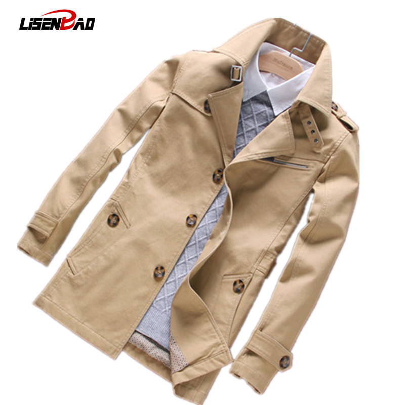 2017 autumn new men s casual long section men jacket fashion Slim thin section men coat