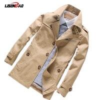 2018 autumn new men's casual long section men jacket fashion Slim thin section men coat Men Spring Overcoat Jacket Outerwear 5XL