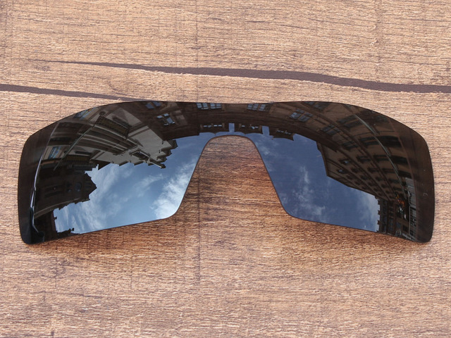 Black Iridium Mirror Polarized Replacement Lenses For Oil Rig Sunglasses Frame 100% UVA & UVB Protection