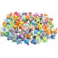 144 unids/set 2-3 cm Cifras Monstruo Lindo Mini Pikachu Pokeball Figuras Juguetes Brinquedos Colección Anime Kids Regalos Al Azar juguetes # E