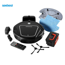 Seebest D720 MOMO 1.0 Dry Mopping Robot Vacuum Cleaner with Big Suction Power,2 side brush,Time Schedule Clean, Russia Warehouse