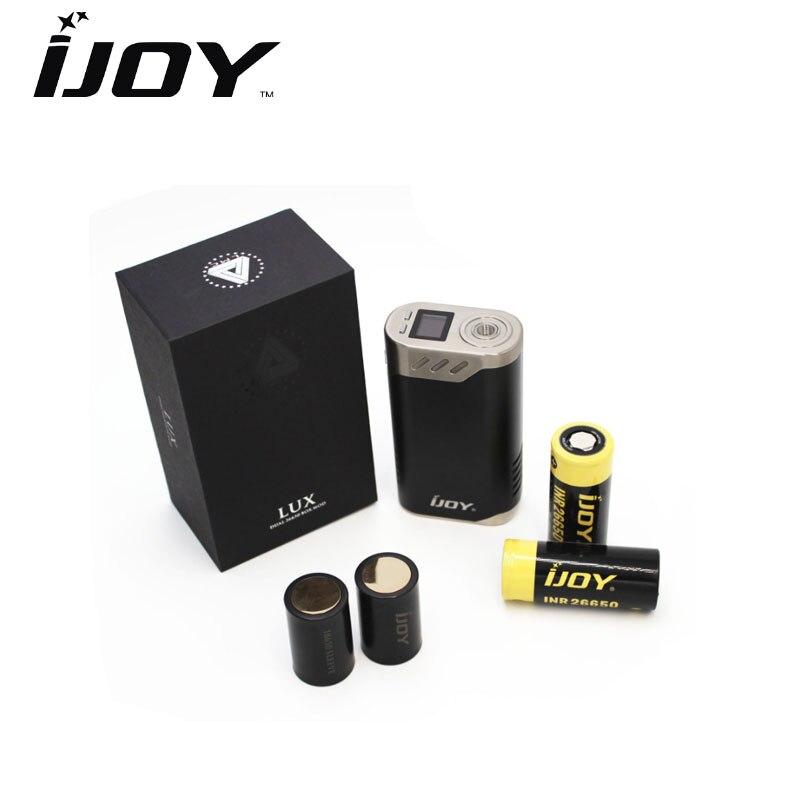 Original IJOY Limitless LUX 215W TC Box Vape Mod E Cigarettes Limitless LUX Dual 26650 battery Mod fit for Limitless RDTA Plus