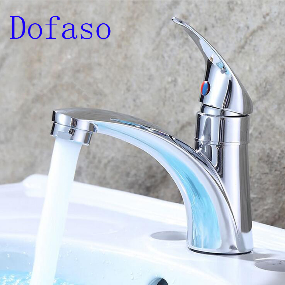 Dofaso bathroom Single Hole Cold Water taps washbasin tap basin faucet Zinc Alloy Kitchen Faucet Mixer Single Handle