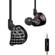 KZ ZST Dual Driver In-Ear Earphone Dynamic Armature Super Bass Noise Isolating HiFi Music Sports Earbuds Headset with Microphone kz zs1 headset dynamic monitoring noise cancelling stereo in ear headphones hifi earphone with microphone for phone gaming