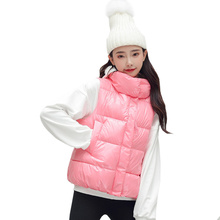 Autumn Winter Women Cotton Vest Fashion Female Sleeveless Jacket Warm personality Jackets Size XL