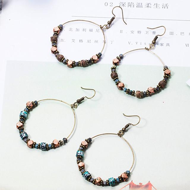 Vintage Round Earrings