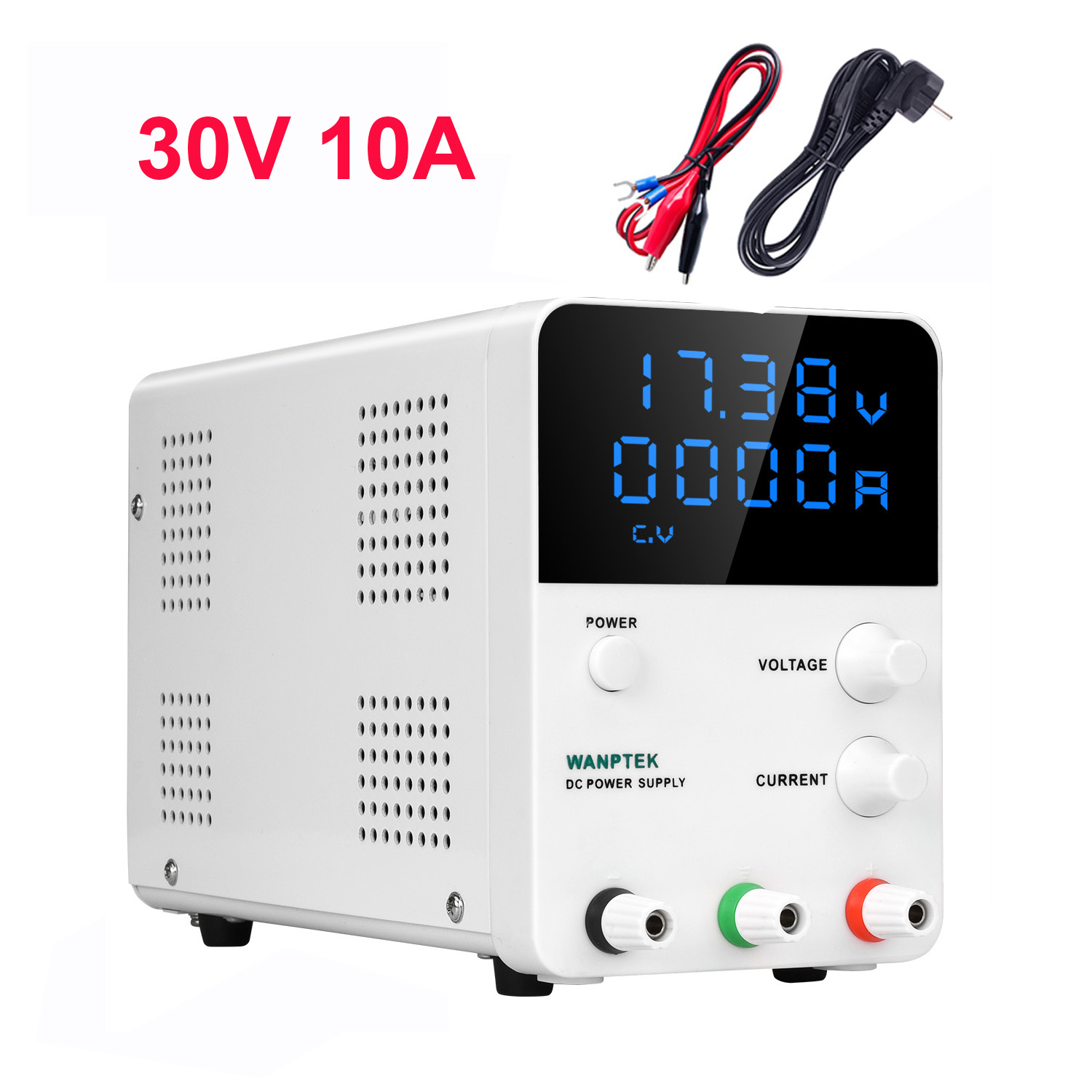 Adjustable Power Supply 30V 10A Unit Bench Source Universal Switching Lab Power Supplies Shipping From Russia