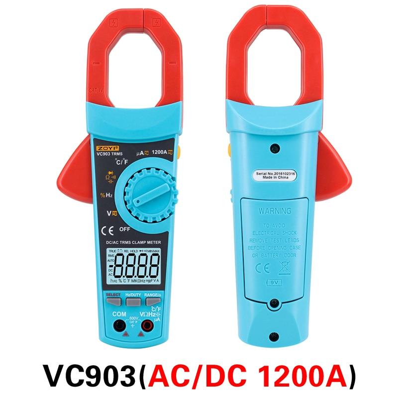 Multimeter Automatic Digital True Dc Range VC902 Precision VC903 RMS Clamp Resistance Capacitance Meter Voltage High Current Ac