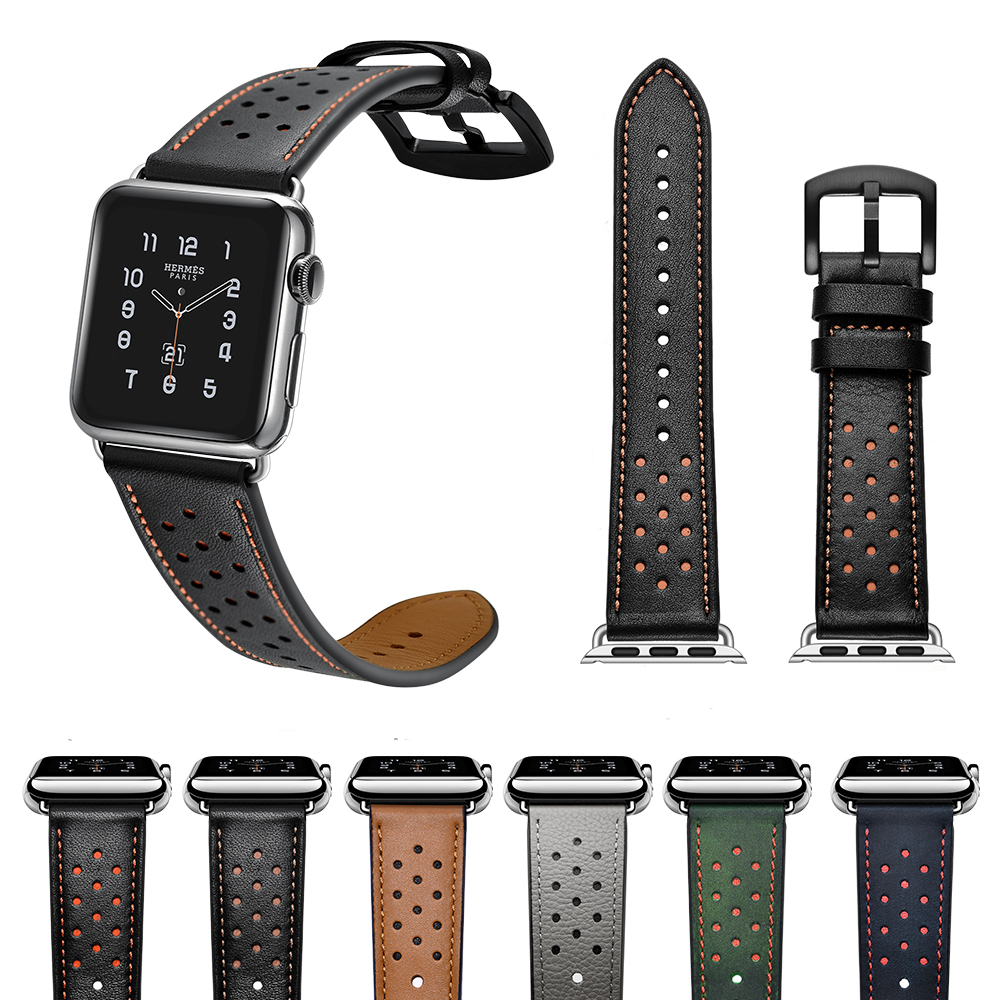 Genuine Leather Watch Strap for Apple Watch Band Vintage Horse Watch Band for Apple Watch Bands 42mm and 38mm o henry 100 valitud novelli 5 raamat