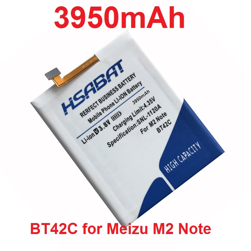 imágenes para HSABAT 3950 mAh Batería para Meizu BT42C M2 Batería Nota