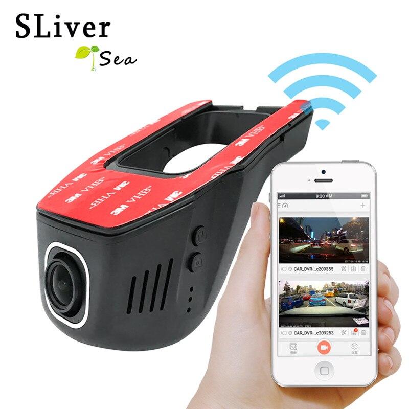 SLIVERYSEA Автомобильный видеорегистратор с Wi-Fi, цифровой видеорегистратор, видеокамера, видеорегистратор 1080P, ночная версия, Novatek 96655, камера вра...