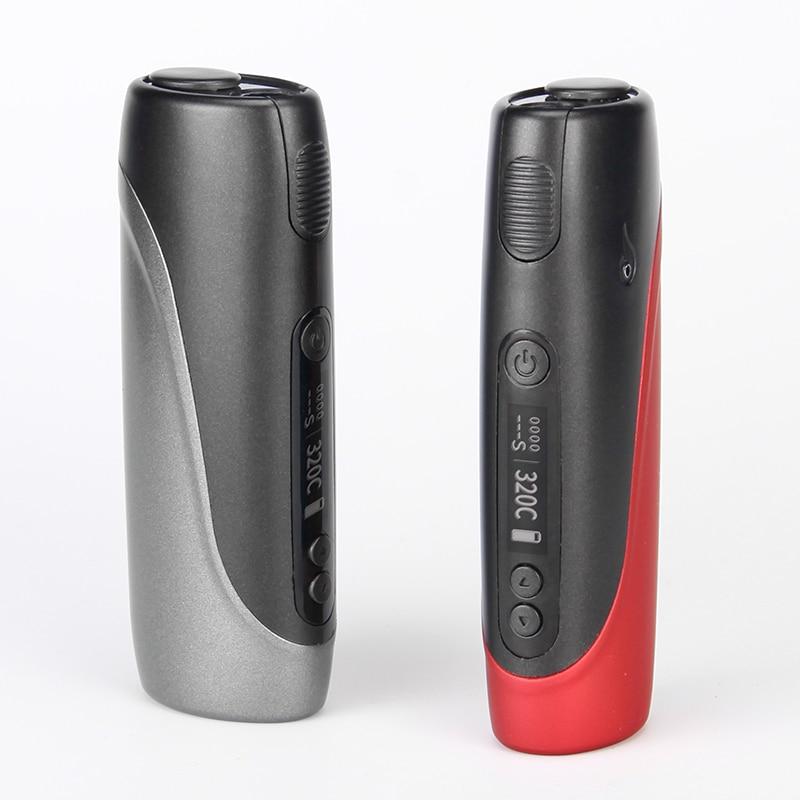 Electronic Cigarette Pluscig P3 Heat Vape Box Kits 2150mAh 30 Smoke Metal Body LED Screen Operation Automatic cleaning A+++ 2