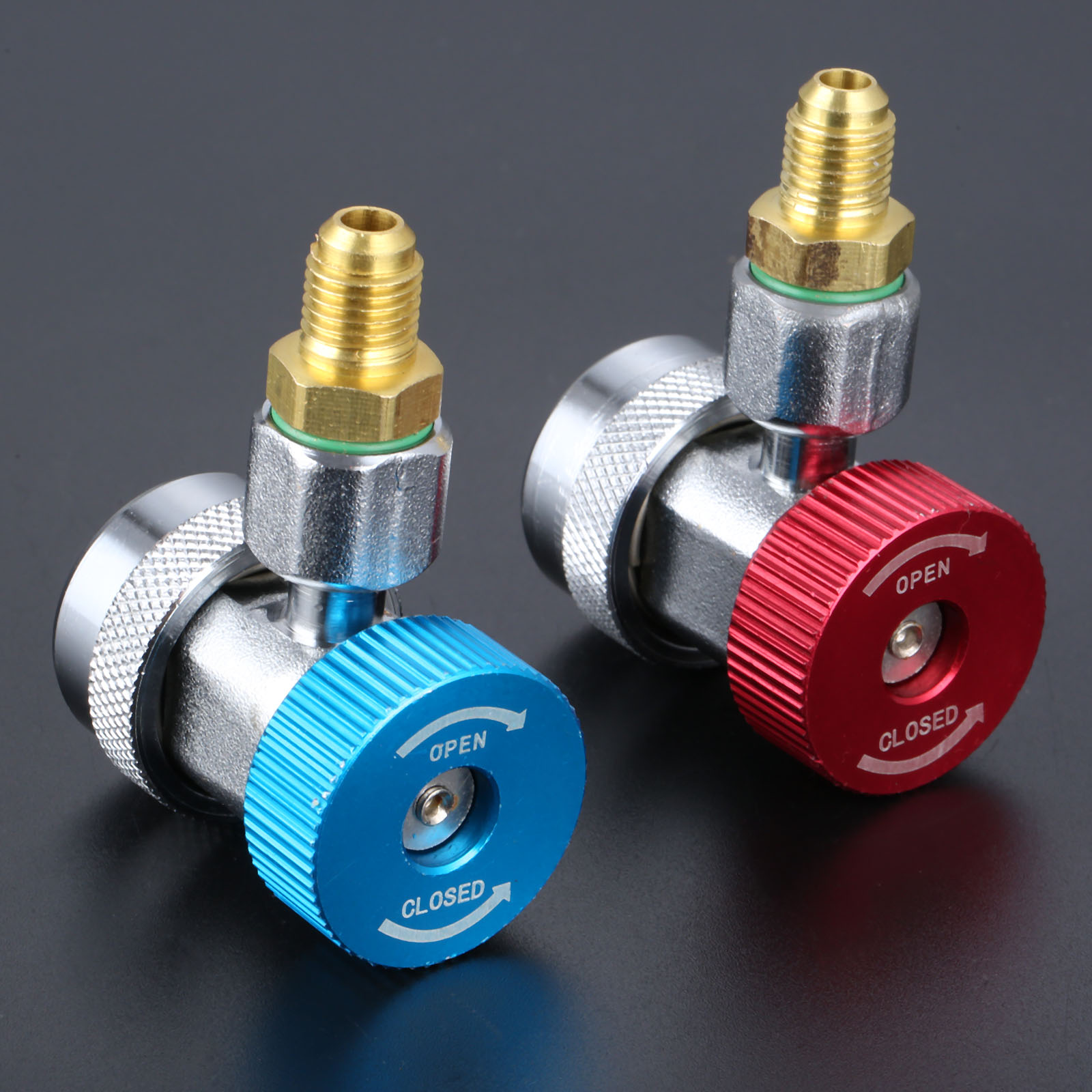 Image 4 - 1 Pair High Low Adapter Connector R134A AC Air Condition Adjustable Quick Coupler Car Accessories-in Air-conditioning Installation from Automobiles & Motorcycles