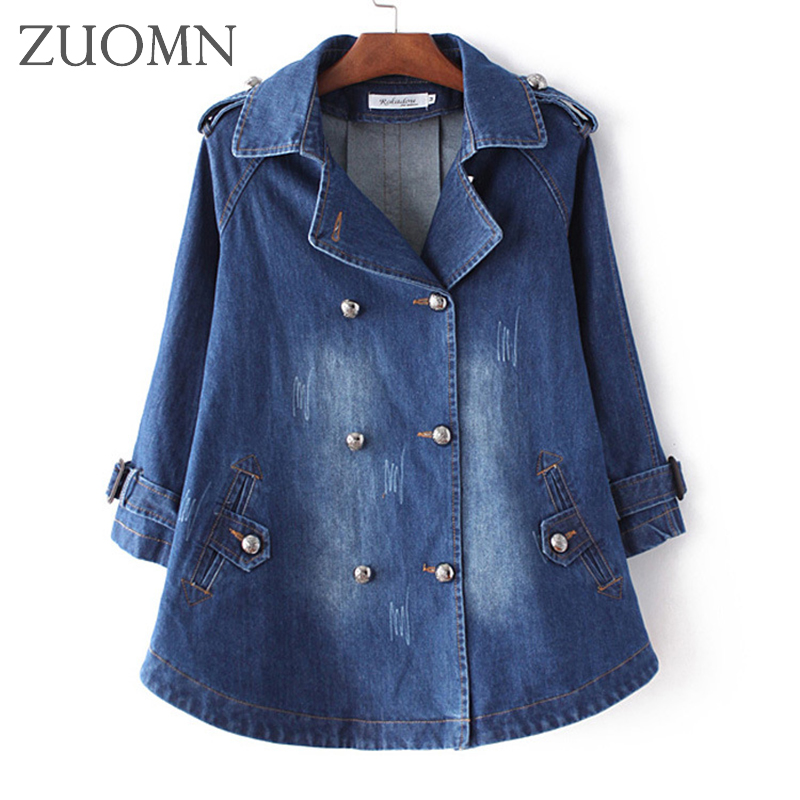 Autumn Denim Jacket For Women Jeans Jacket Women Denim Coat Vintage Half Sleeve Loose Female Jean Coat Casual Girls Outwear Y328