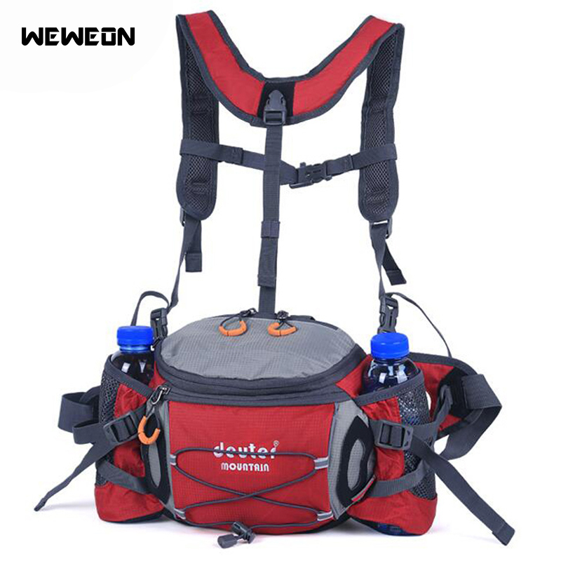 Multifunctional Waist Bags Running Hiking Packs Outdoor Cycling Climbing Sport Shoulder Bags with Bottle Holders Mountaineering