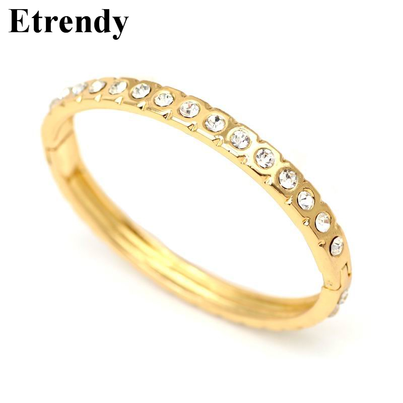Simple Crystal Bracelets & Bangles For Women Gold Color Luxury Temperament Bracelet Trendy Jewelry Bijoux Watch Accessories