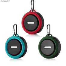 DEYIOU Shower Waterproof Wireless Bluetooth Handsfree Suction Chuck Stereo Speaker with Microphone for Smart phone Tablet PC
