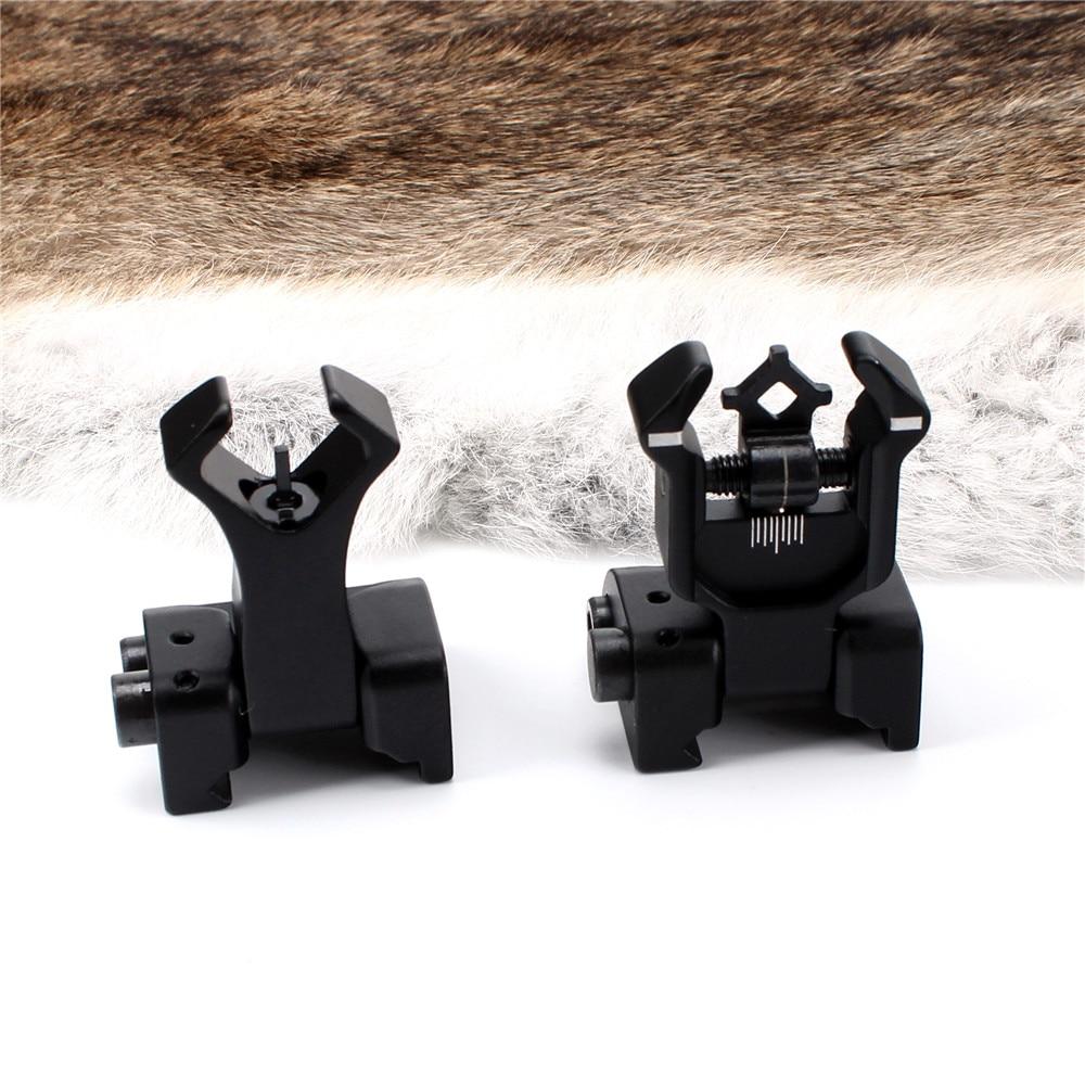 Model 4 AR 15 Tactical Flip up Front Rear Sight Sights Set Iron Diamond Apertures Dual Windage Adjustment
