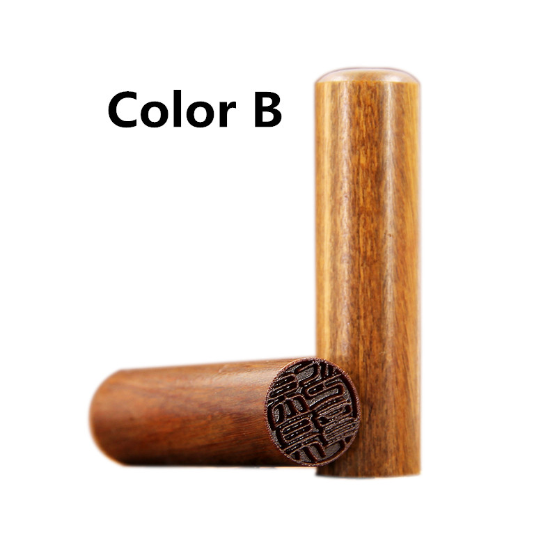 Image 4 - Free Carving Padauk Wooden Seal Calligraphy Round Seal Name Stamp Xian Zhang,Needle Carving-in Stationery Stickers from Office & School Supplies