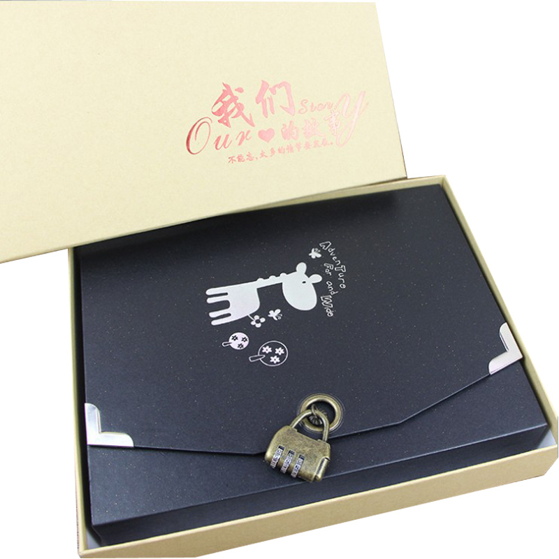 Boxed Photo Albums: Boxed DIY Photo Album With Coded Lock Romantic Creative