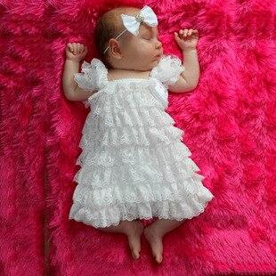 Aliexpress.com : Buy Lace Flower Princess White Baby Dress Infant ...