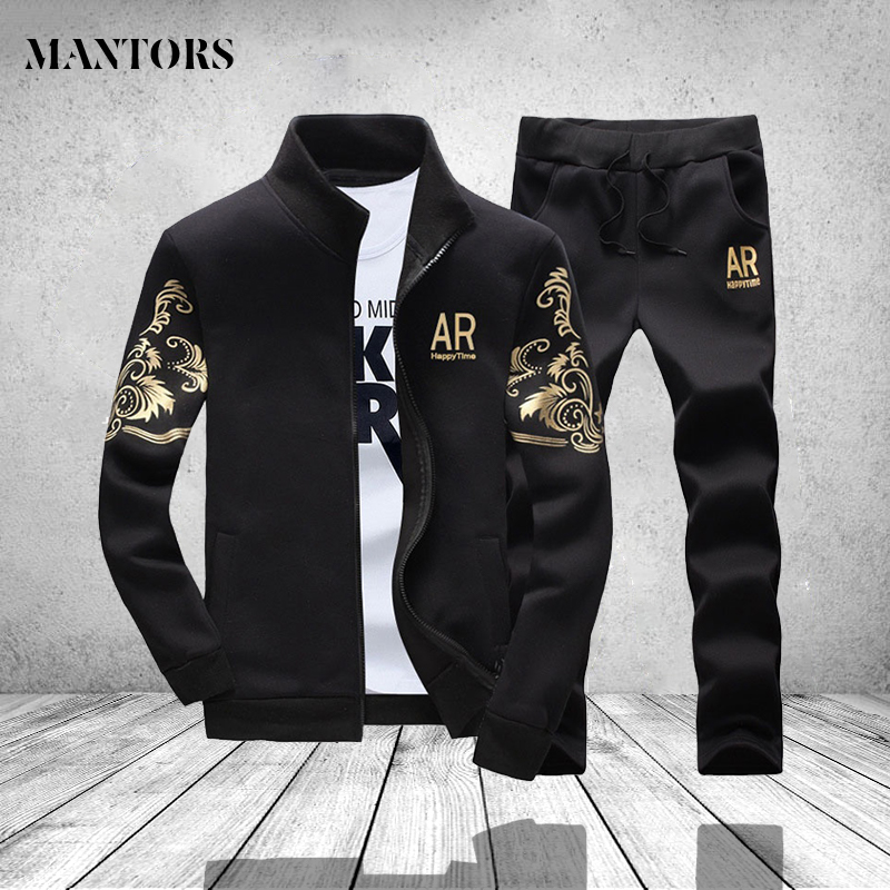 Sportswear Mens Set Autumn Mens Sweat Suits Brand Clothing Male Sweatpant Long Sleeved Casual Jacket and Pants Sportswear Men ...