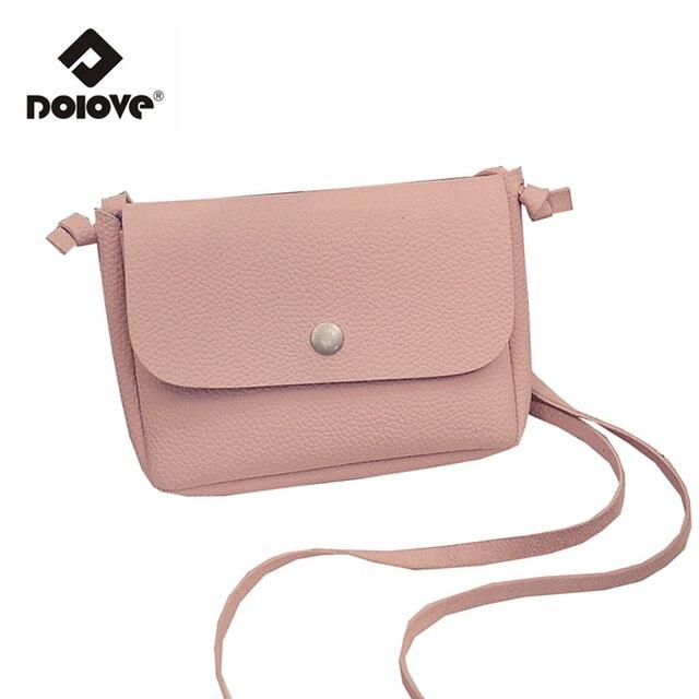 DOLOVE Tas 2018 Retro Model Perempuan Mini Messenger Versi Korea Fashion Tas  Persegi Tas Wanita Kecil cef3251d39
