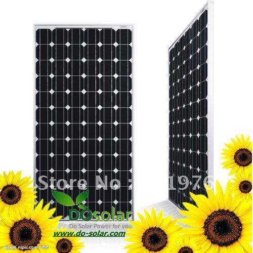 2Pcs/Lot, Solar panels for home use, 195W mono crystalline silicon Grade A cells, price USD FREE SHIPPING in stock