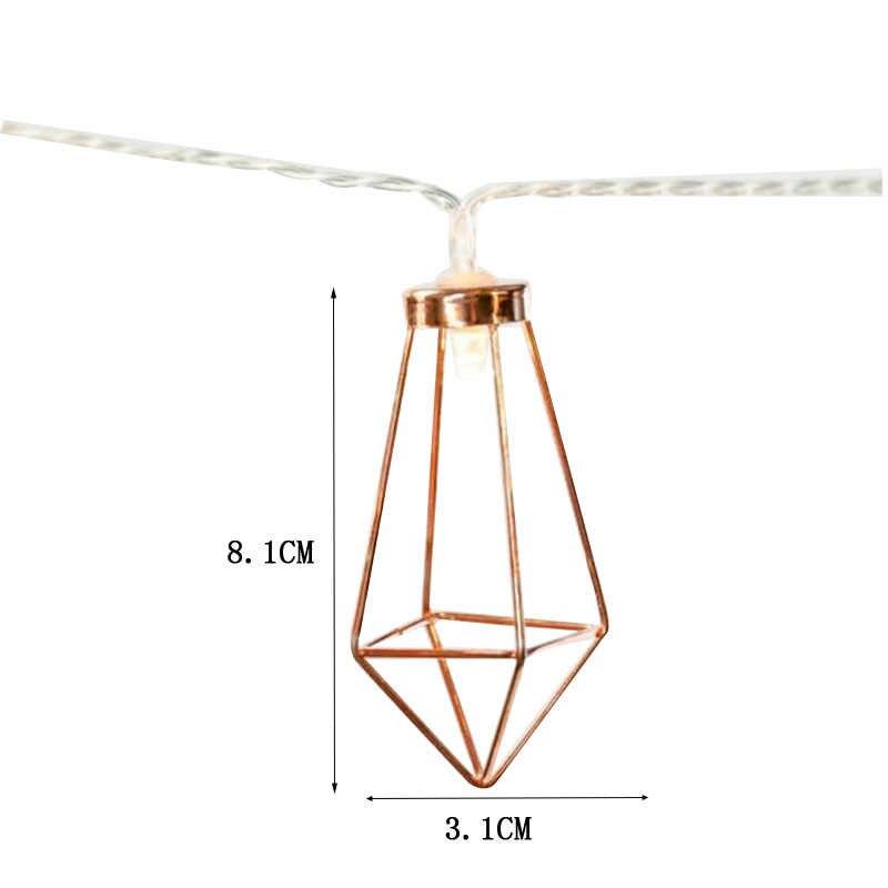 10 светодиодный/20 светодиодный декоративный Алмазный светодиодный светильник, розовое золото, китайские фонарики, веревка для рождественской вечеринки, свадьбы, спальни, светодиодный светильник