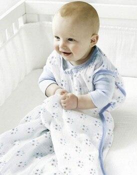 100% Muslin Cotton Baby Thin Slumber Sleeping Bag Mod For Summer bedding Baby Saco De Dormir Para Bebe Sacks  Sleepsacks 1