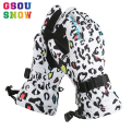 Gsou Snow Ski Gloves Women Men Snowboard Gloves Bright Color Snowmobile Motorcycle Riding Winter Gloves Waterproof Sports Gloves