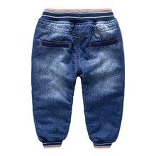 Зимой с baby blue брюки талии джинсы кашемир нить 2016 зимние брюки мальчик ребенок теплые брюки