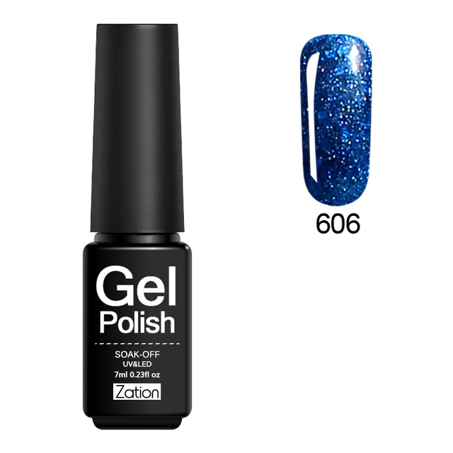 Zation Gel Nail Polish Set Varnish Diamond Nail Gel Kit Top Base Coat Nail Polish Glitter Enamel Shimmer Gel Foil Nails Lacquer