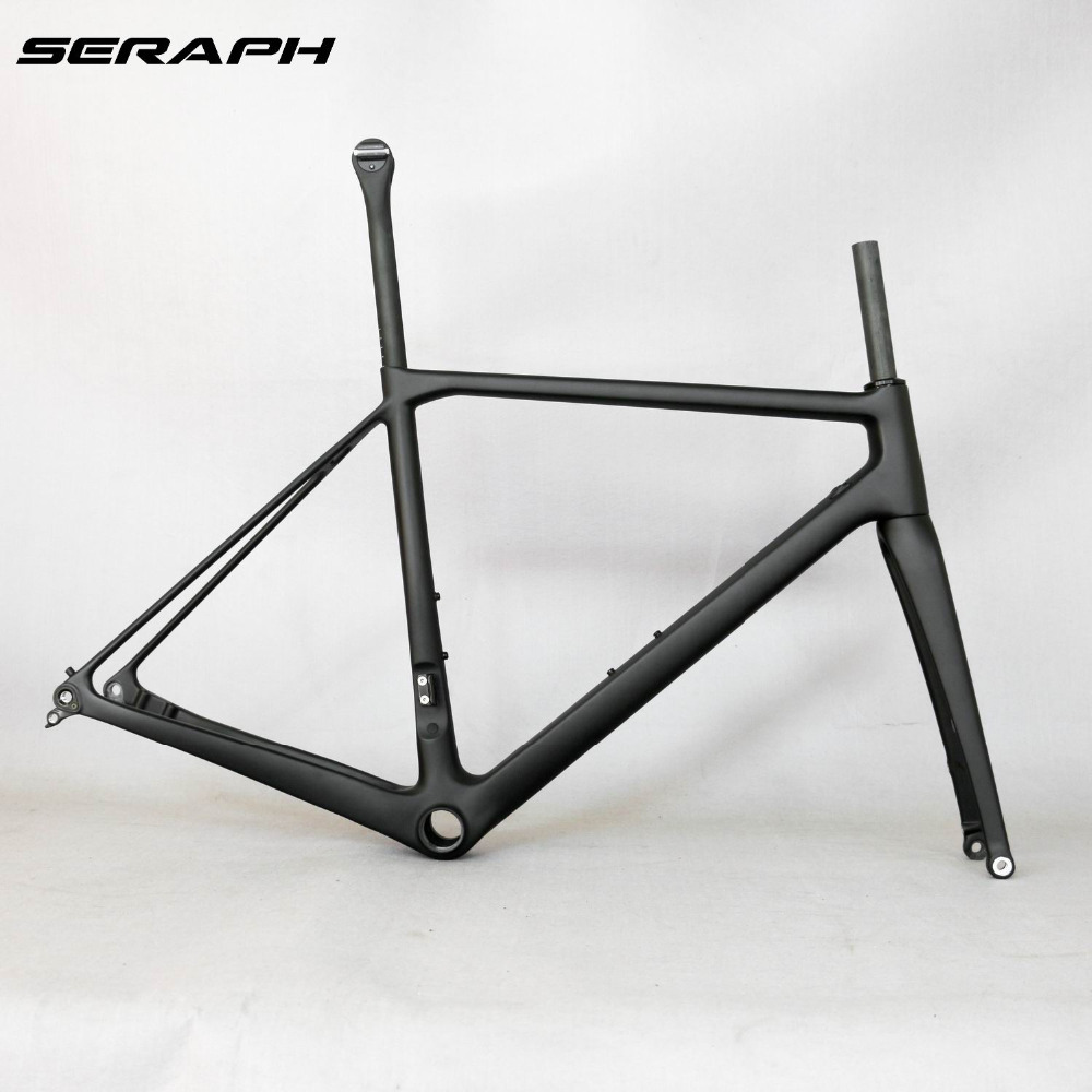 2018 NEW 700C Carbon Fiber Flat Mount Disc Brake Road Bike Frame Bicycle Frameset FM009 Axle thru , New EPS technology 2017 flat mount disc carbon road frames carbon frameset bb86 bsa frame thru axle front and rear dual purpose carbon frame