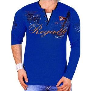 Image 4 - ZOGAA marque décontracté Polos hommes 2019 mode imprimé sweat shirt Slim Fit à manches longues Polos pour homme vêtements top t Shirts