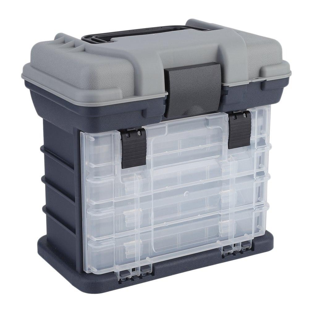 27*17*26 cm al aire libre plástico Portable 5 capa grande pesca herramienta caja de almacenamiento con mango envío libre
