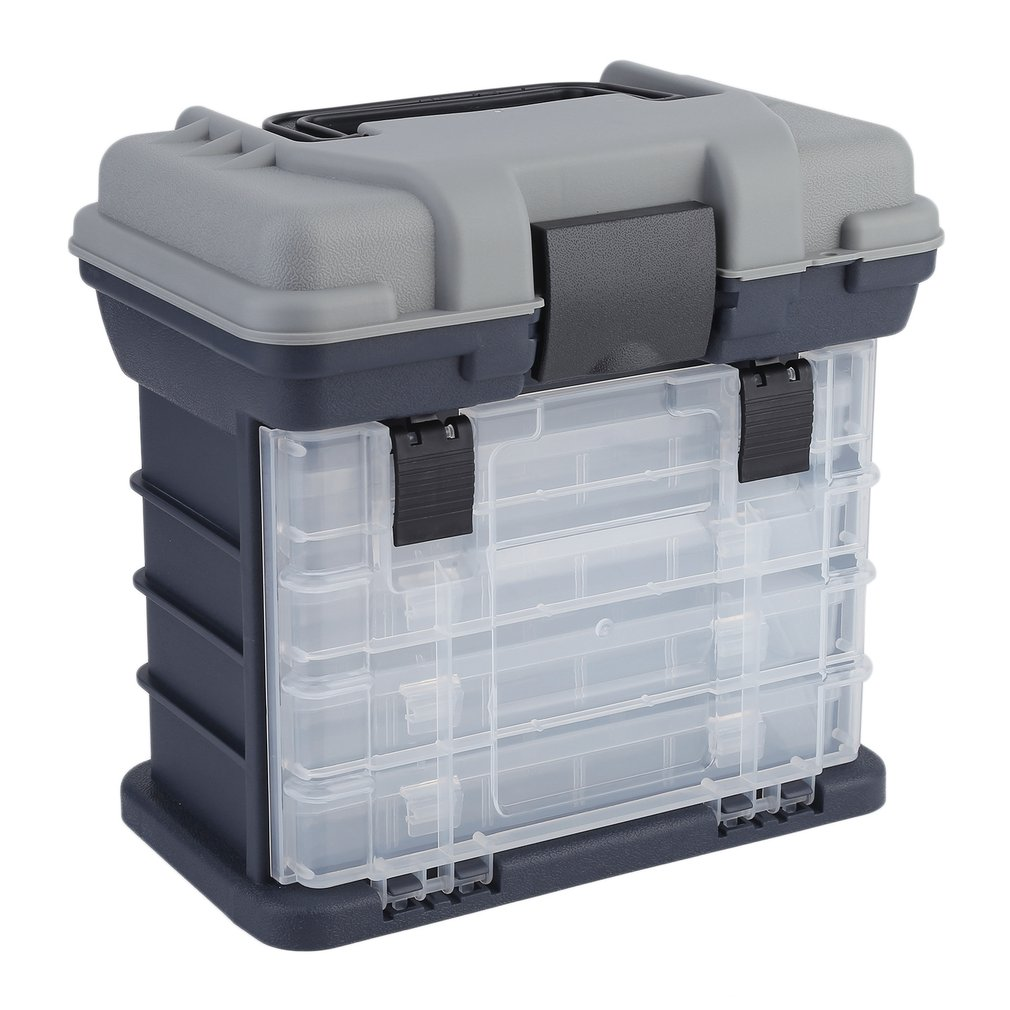 27*17*26cm Portable Plastic Outdoor 5 Layer Big Fishing Tackle Tool Storage Box Case with Handle free shipping