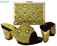 Shoes And Bag To Combine Italian Design Yellow Party Nigerian Shoe And Bag Set Women Shoe