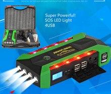 Super Powerful Multi-Function 22000mah Car Jump Starter 12V Starting Device Mobile 4USB Power Bank Compass SOS Lights Free Ship