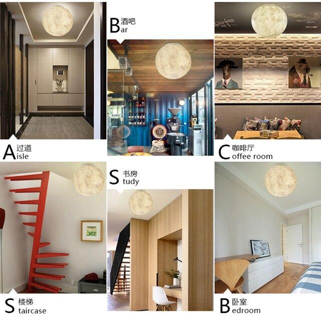 문 화성 현대 조명 램프 공 led 천장 조명 수지 천장 조명 레스토랑 침실 거실 식당 장식 조명