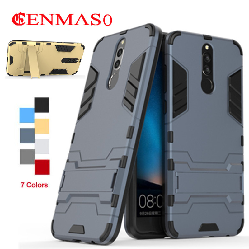 For Huawei Mate 10 Lite Case Armor Slim Rubber cover Shockproof Robot Silicone Cover for Huawei maimang 6 Nova 2i Honor 9i case