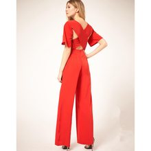 Promotional Activities Paris Fashion Star With The Paragraph Trumpet Sleeveless Cross-big-name Solid Cotton Linen Jumpsuits