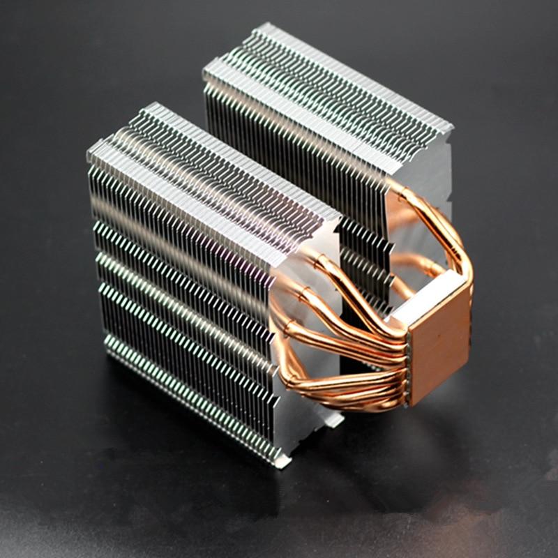 Pour Intel AMD 775 115x1366 AM3 plate-forme 6 cuivre caloduc refroidisseur de processeur d'ordinateur passif silencieux muet sans ventilateur radiateur de refroidissement