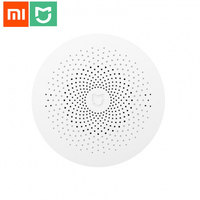 Original Xiaomi Smart Home Multifunctional Gateway Alarm System Intelligent Mini Online Radio Night Light Bell EU